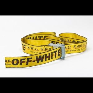 OFF WHITE Yellow Industrial Belt